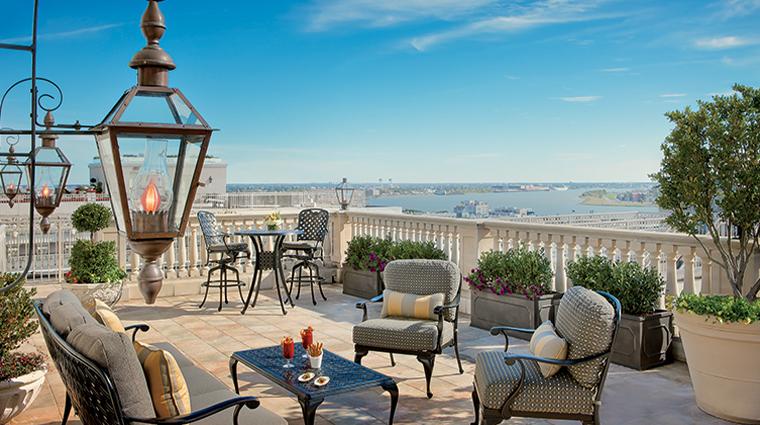 the ritz carlton new orleans ritz carlton suite terrace