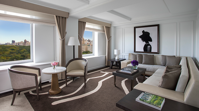 the ritz carlton new york central park grand park view suite living room