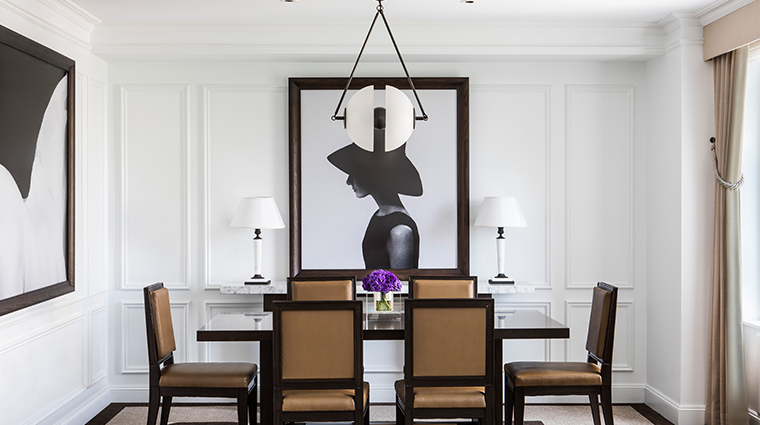 the ritz carlton new york central park premier park suite dining room