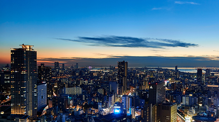 the ritz carlton osaka view from deluxe view