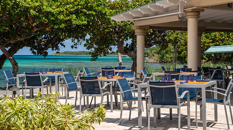 the ritz carlton st thomas outdoor eating