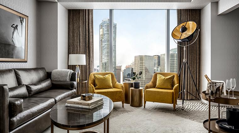 the ritz carlton toronto Club Level Corner Suite Living Room