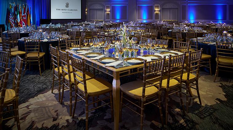 the ritz carlton washington dc gala in ballroom