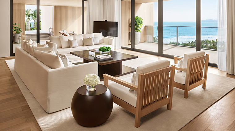 the sanya edition penthouse suite sitting room