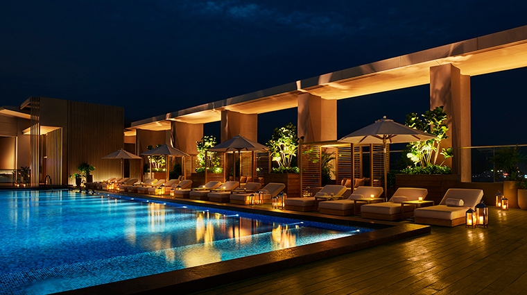 the sanya edition sky bar pool