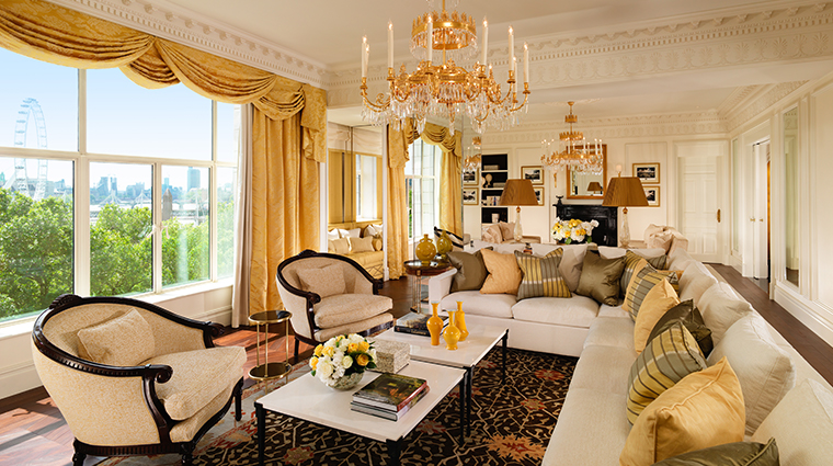 the savoy royal suite living room