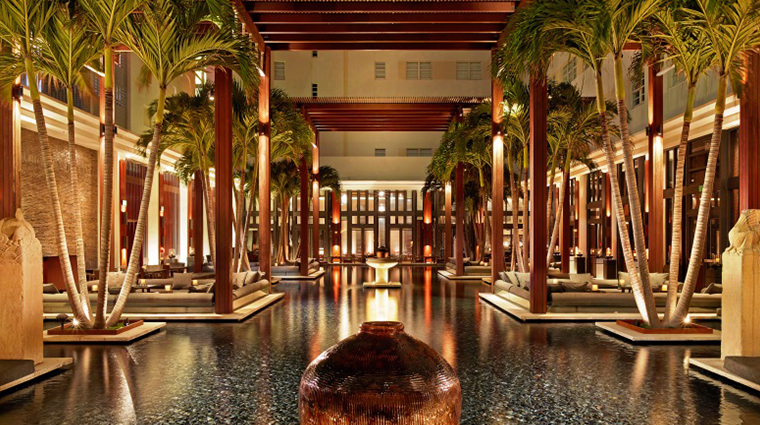 the setai miami beach courtyard