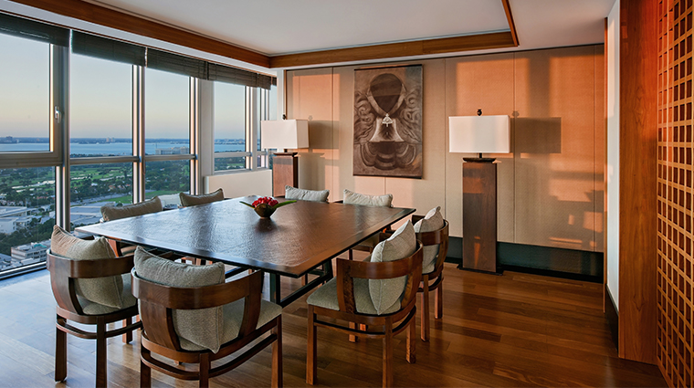 the setai miami beach dining room