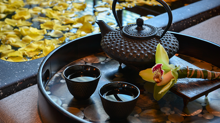 the setai miami beach spa tea detail
