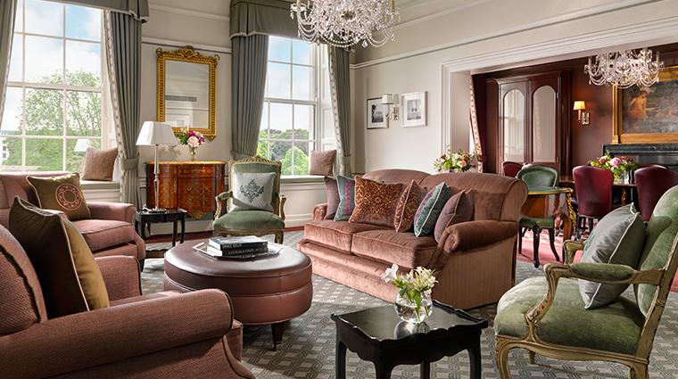 the shelbourne dublin a renaissance hotel Princess Grace suite lounge