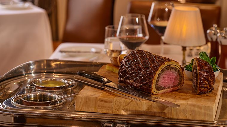 the shelbourne dublin a renaissance hotel beef wellington