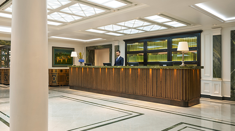 the shelbourne dublin a renaissance hotel reception