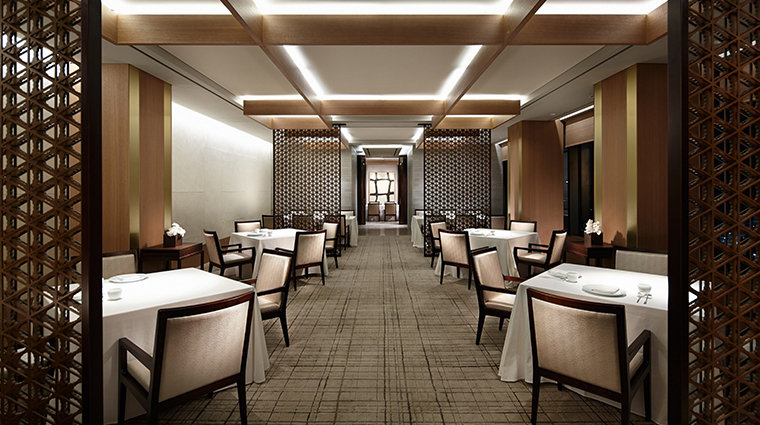 the shilla seoul LaYeon dining room