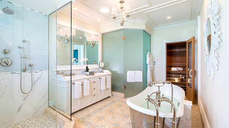 the shore club turks and caicos guestroom bathroom