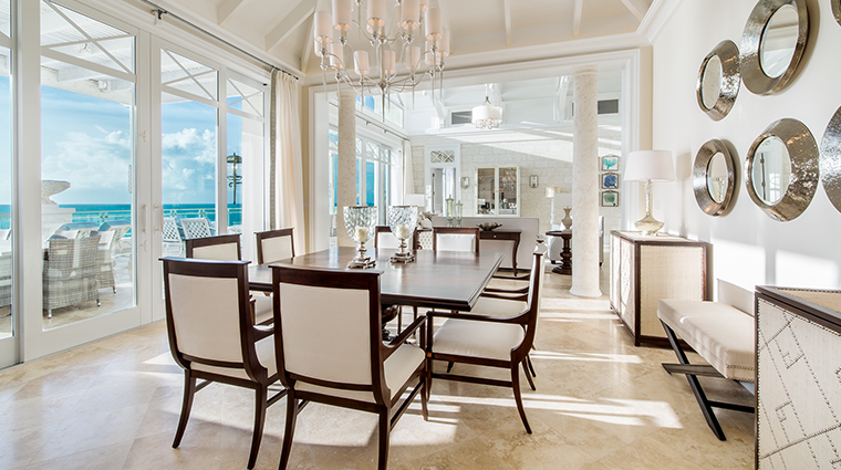 the shore club turks and caicos suite dining