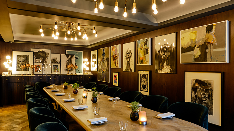 the sofitel london st james Wild Honey private dining