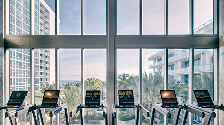 the spa at carillon miami beach fitness floor