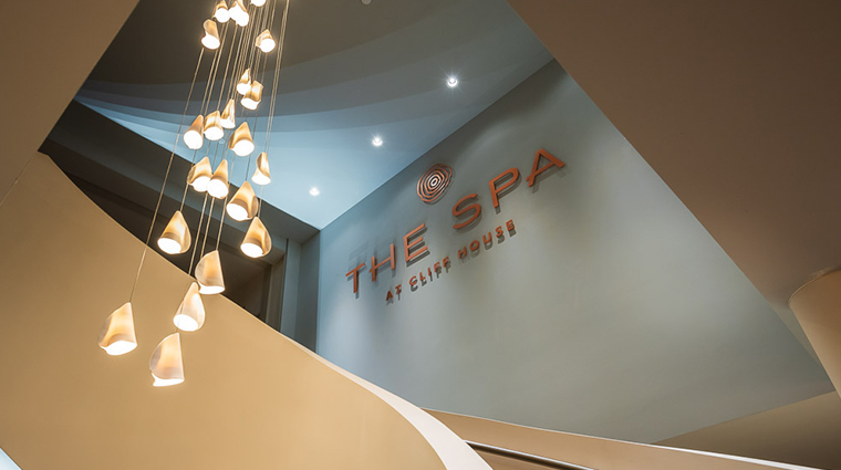 the spa at cliff house signage