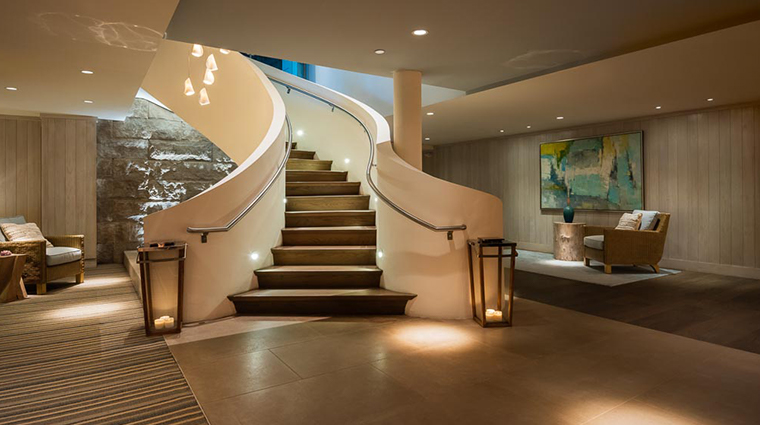 the spa at cliff house stairs