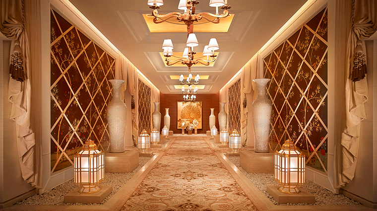 the spa at encore boston harbor hallway