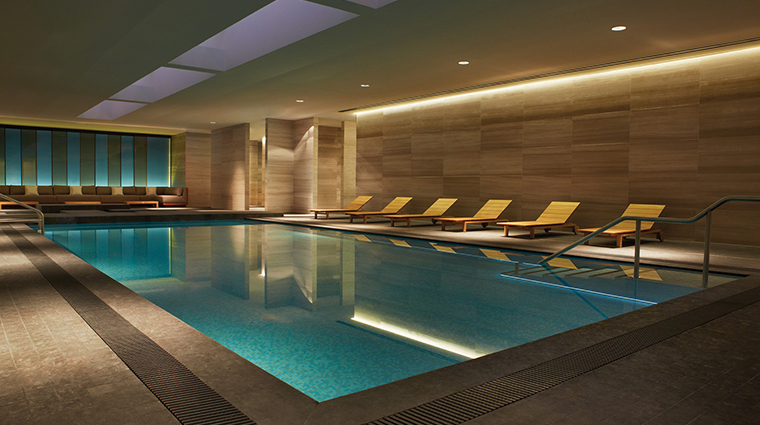 the spa at four seasons hotel toronto pool night