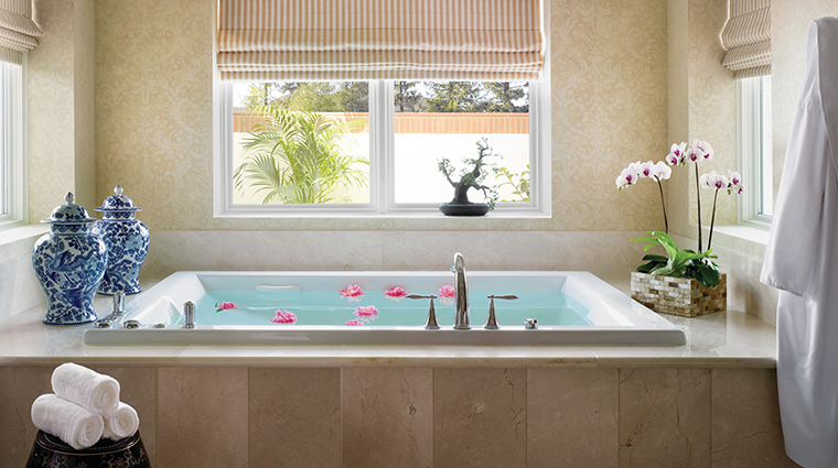 the spa at four seasons hotel westlake village spa tub