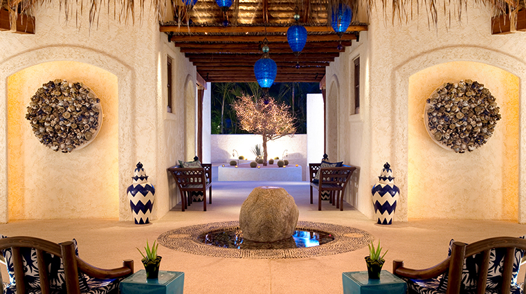 the spa at las ventanas entrance
