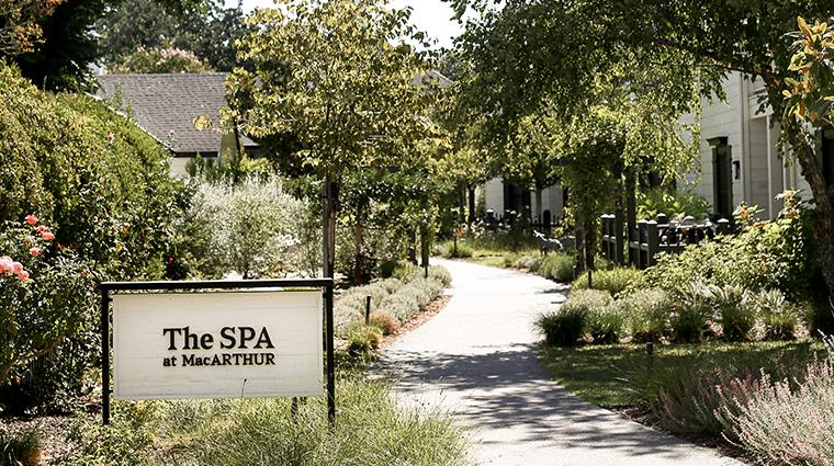 the spa at macarthur sign
