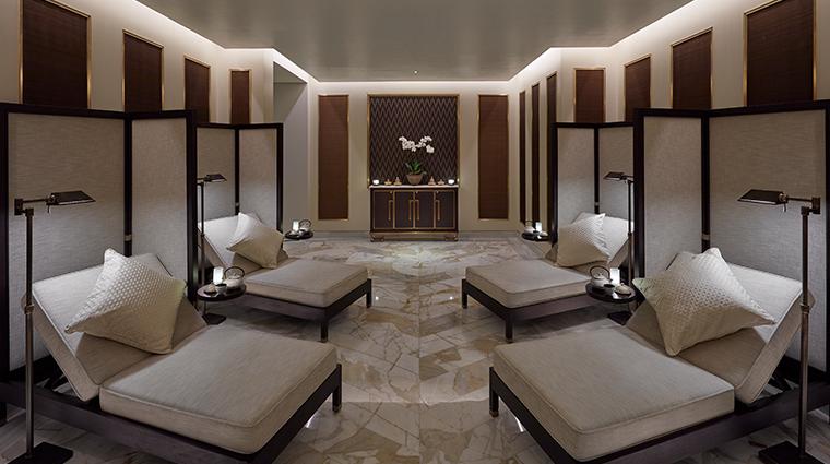 mandarin oriental doha spa male relaxation lounge