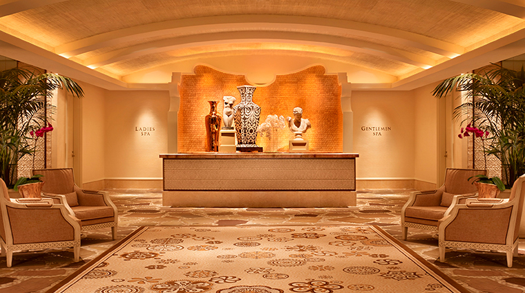 the spa at wynn las vegas reception
