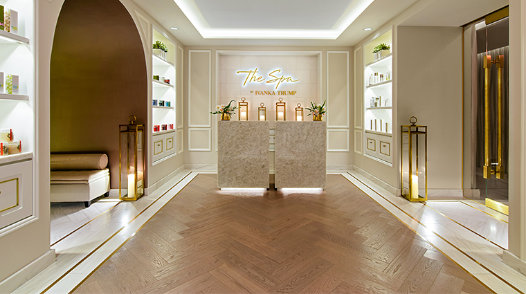 the spa by ivanka trump at trump international hotel washington dc lobby