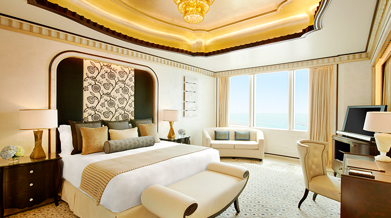 the st regis abu dhabi suite bedroom