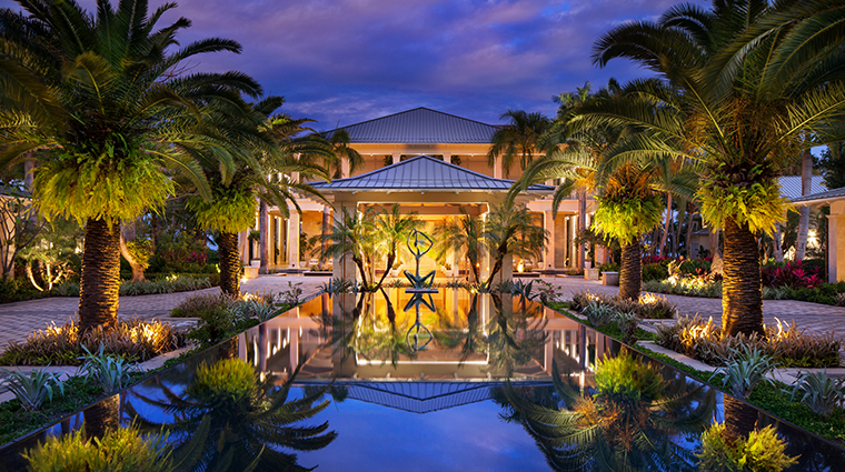 the st regis bahia beach resort puerto rico entrance night