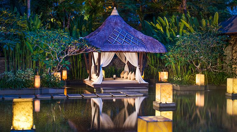 the st regis bali resort Remede spa gazebo