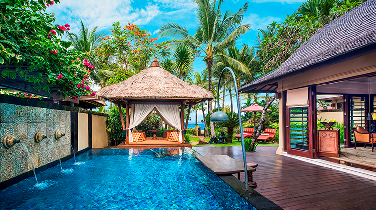 the st regis bali resort Strand Villa pool