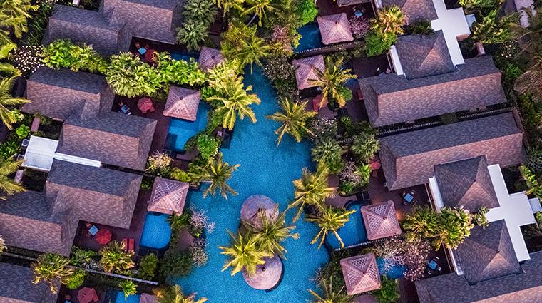 the st regis bali resort aerial villas and lagoon