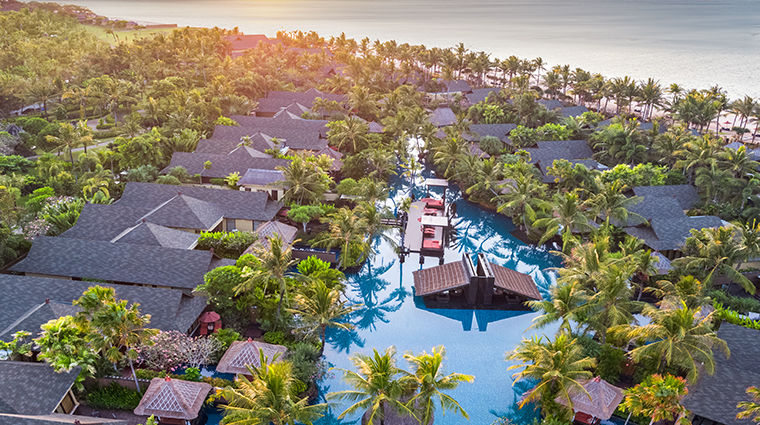 the st regis bali resort aerial