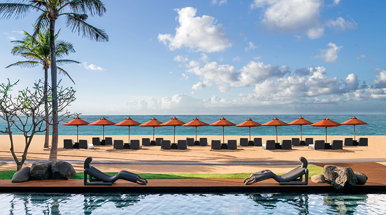 the st regis bali resort beach and pool