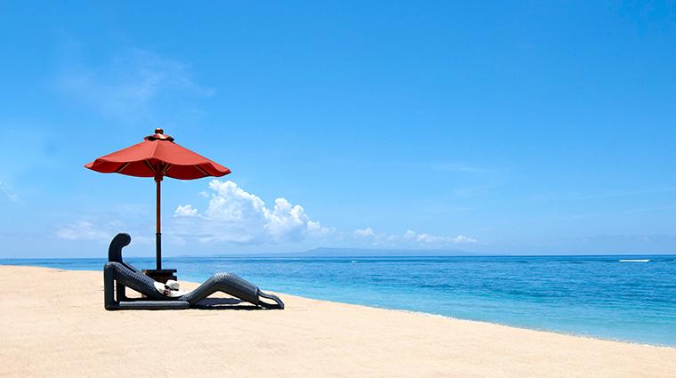 the st regis bali resort beach
