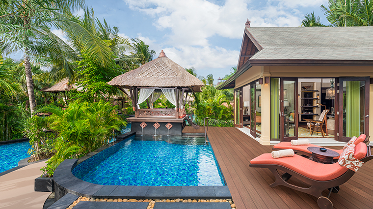 the st regis bali resort lagoon villa