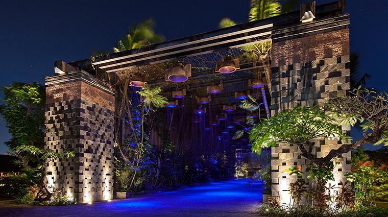 the st regis bali resort mystique rainforest gate