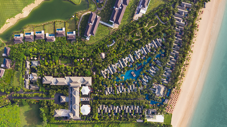 the st regis bali resort new aerial shot