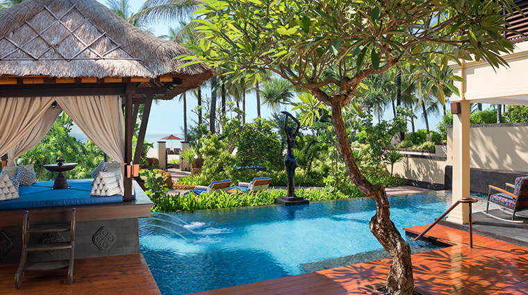the st regis bali resort new pool and cabana