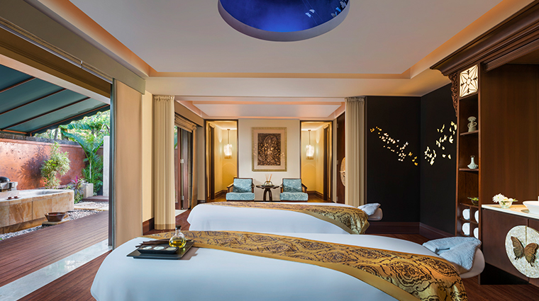 the st regis bali resort new spa treatment room