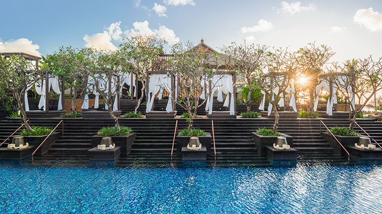 the st regis bali resort pool cabana