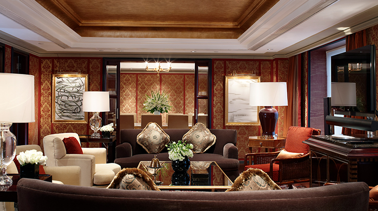 the st regis beijing suite living room