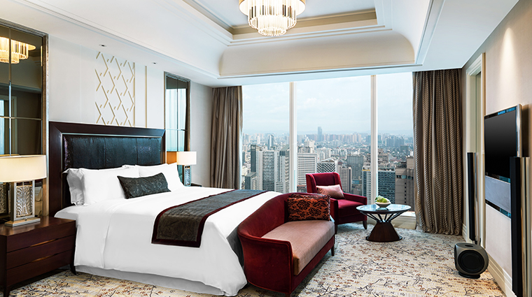 the st regis chengdu governor suite bedroom