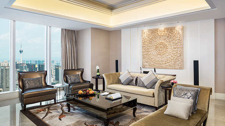 the st regis chengdu metropolitan suite living room