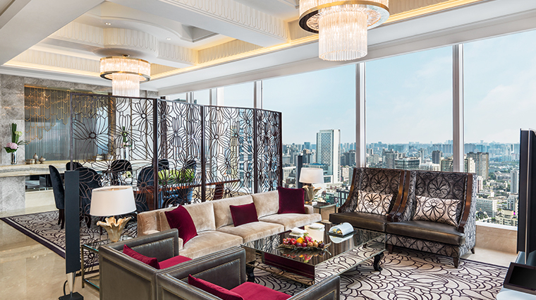 the st regis chengdu presidential suite living room
