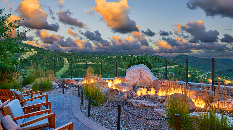 the st regis deer valley fire garden